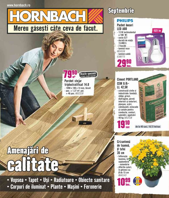 Catalog HORNBACH - 29 August 2018 - 01 Octombrie 2018