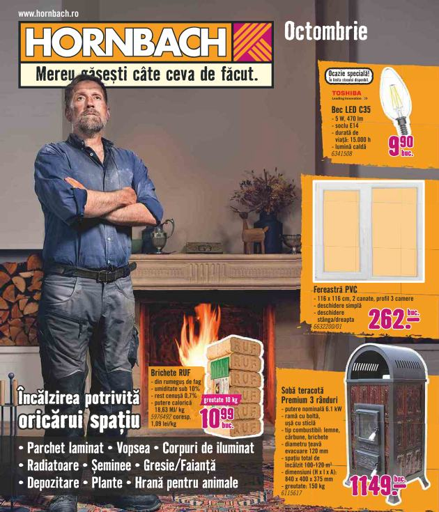 Catalog HORNBACH - 02 Octombrie 2018 - 29 Octombrie 2018