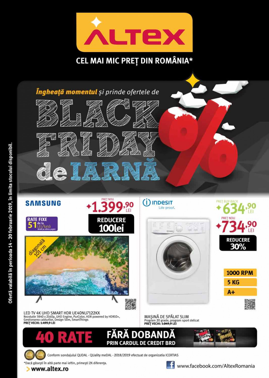 Catalog ALTEX - Black Friday de Iarna! 14 Februarie 2019 - 20 Februarie 2019