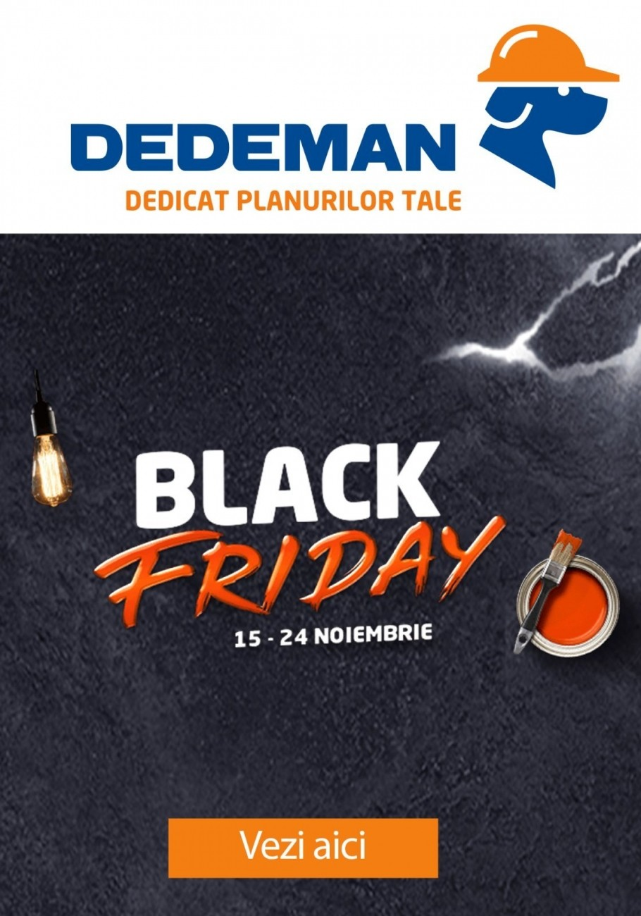 Catalog DEDEMAN Black Friday continua - 15 - 24 Noiembrie 2019