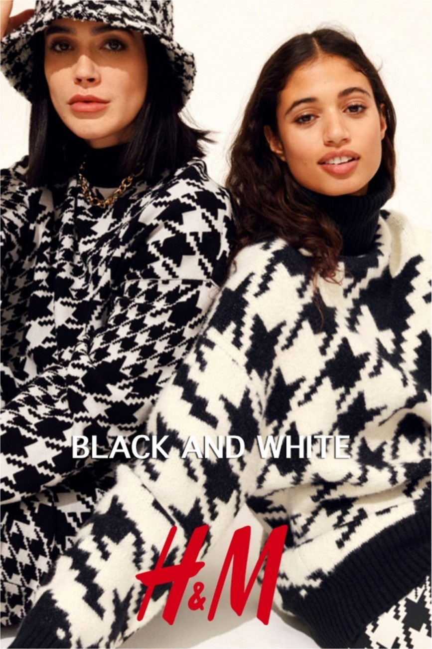 Catalog H&M lookbook Black and White – Iarna 2020