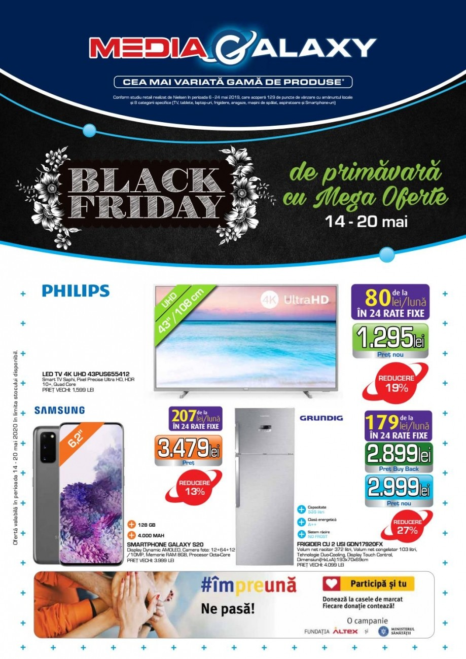 Catalog MEDIA GALAXY - Black Friday de primavara! 14 Mai 2020 - 20 Mai 2020