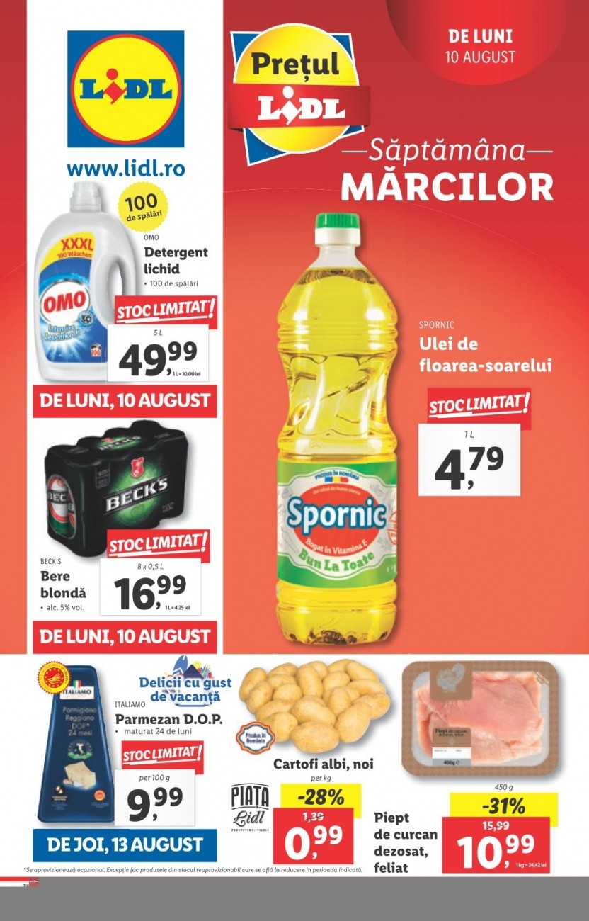 Catalog LIDL - Saptamana Marcilor! 10 August 2020 - 16 August 2020