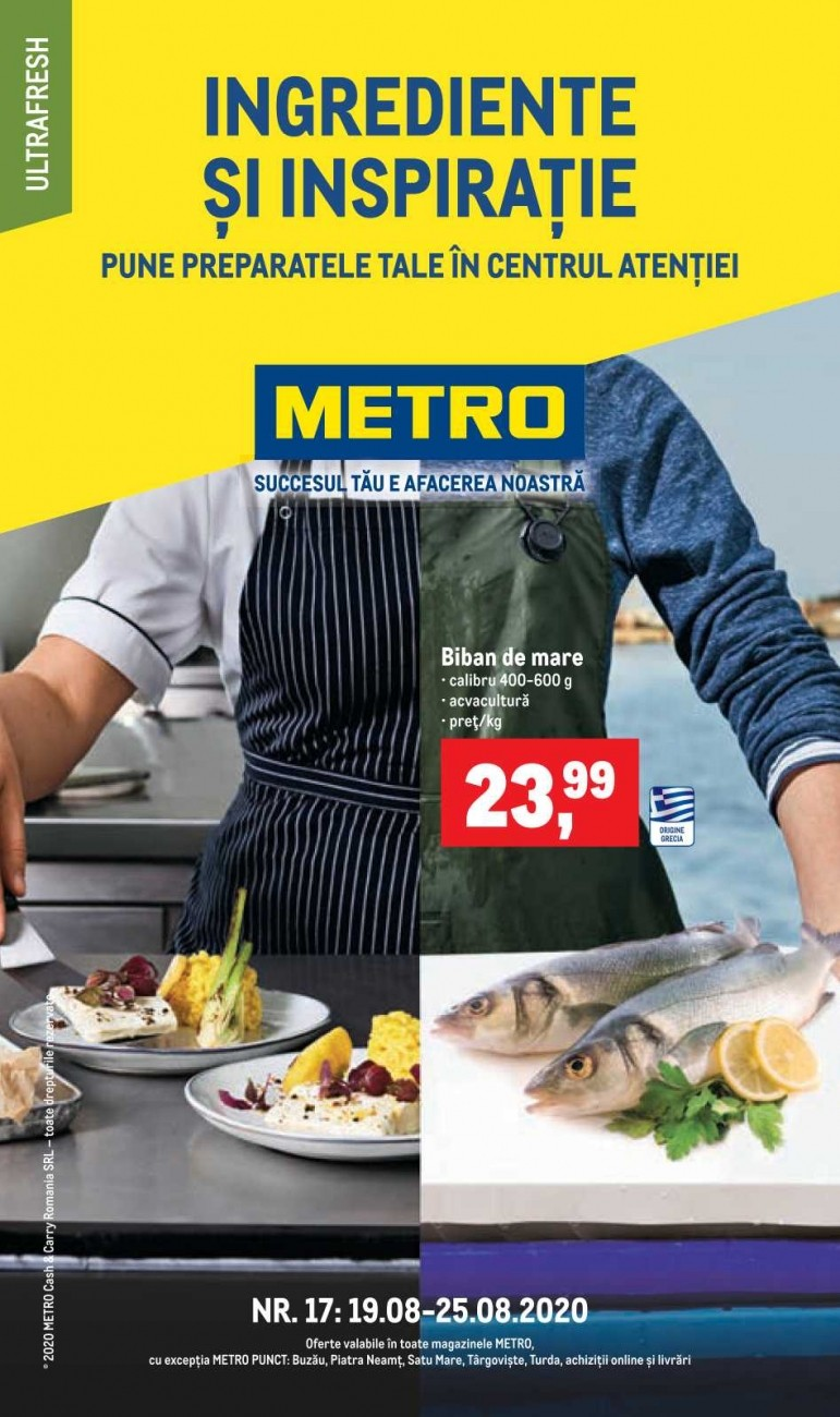 Catalog METRO - Ingrediente si inspiratie! 19 August 2020 - 25 August 2020