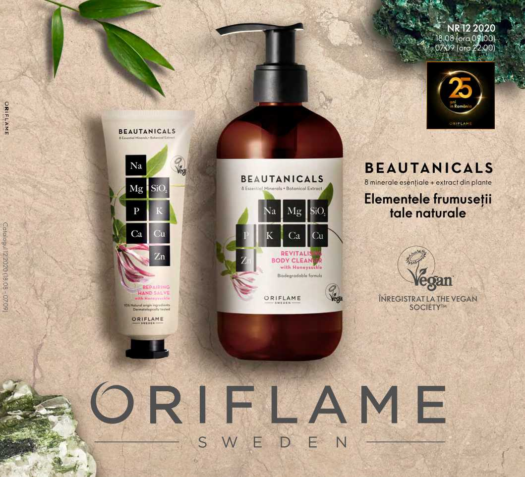 Catalog ORIFLAME 12 2020, valabil: 18 August 2020 - 07 Septembrie 2020