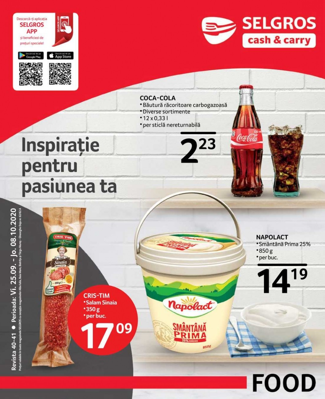 Catalog SELGROS - Oferte Alimentare! 25 Septembrie 2020 - 08 Octombrie 2020