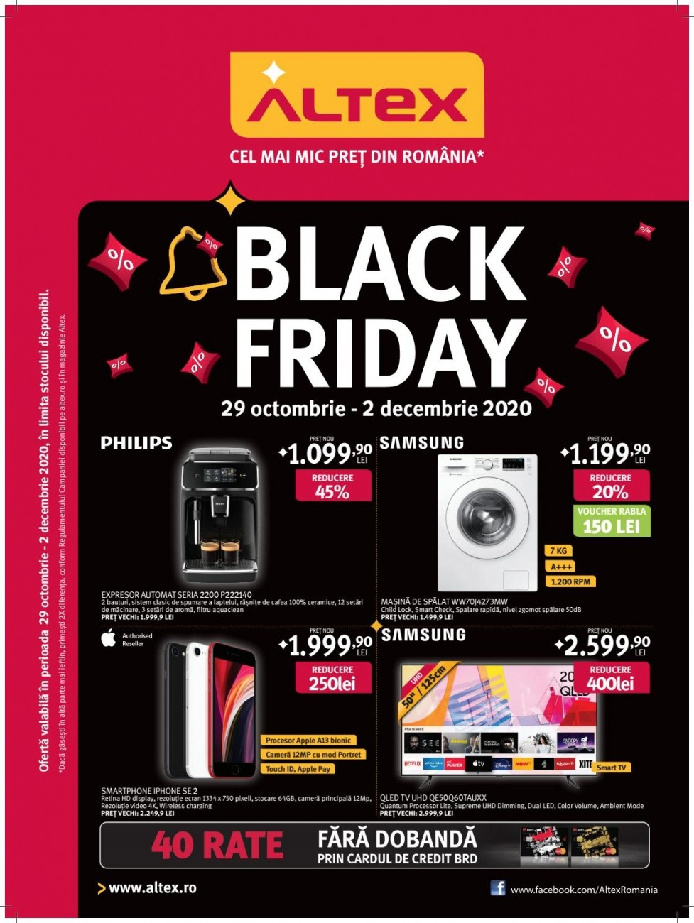 Catalog ALTEX Black Friday 2020 - 29 Octombrie 2020 - 02 Decembrie 2020