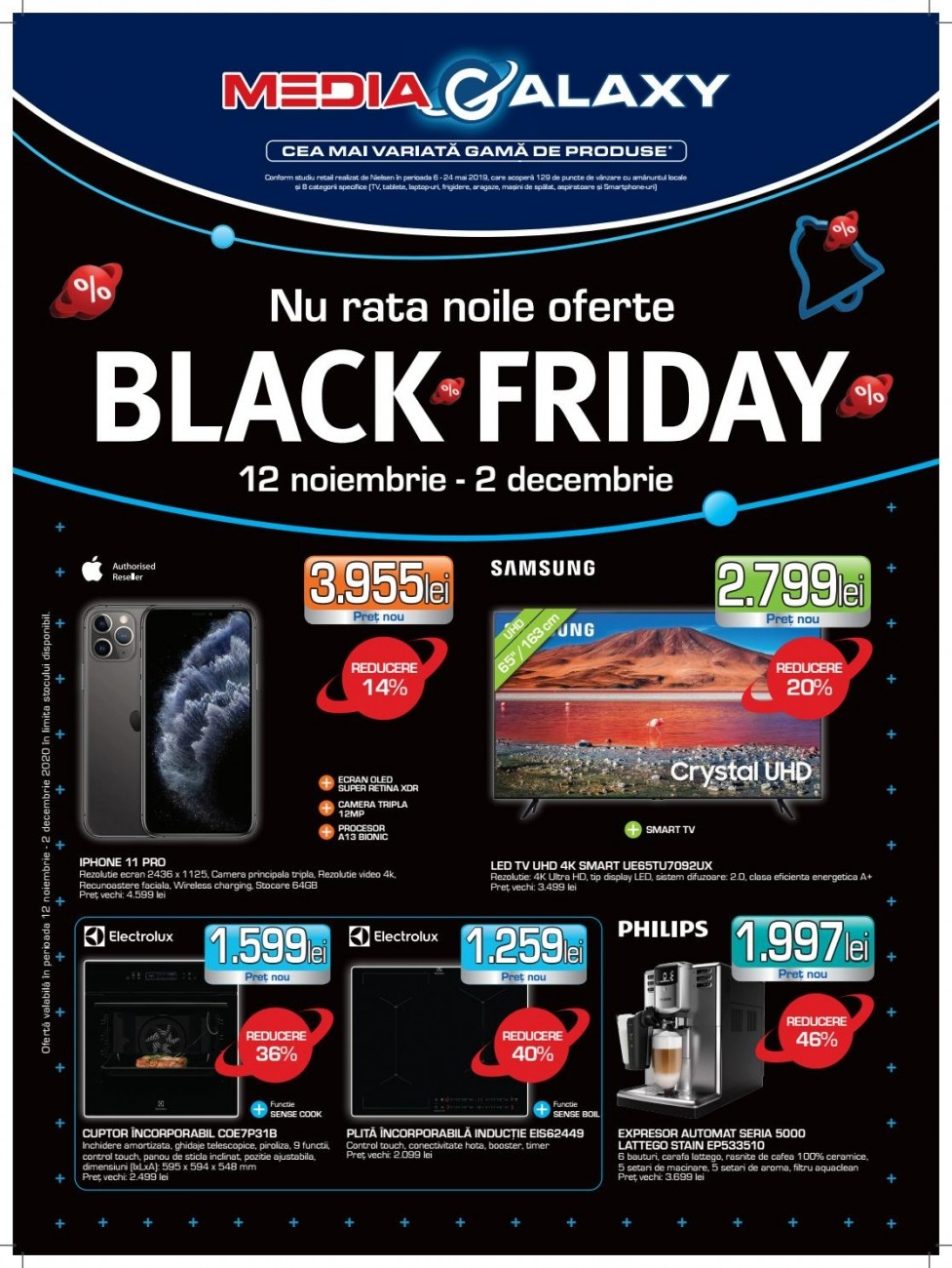 Catalog MEDIA GALAXY Black Friday 2020 ! 12 Noiembrie 2020 - 02 Decembrie 2020