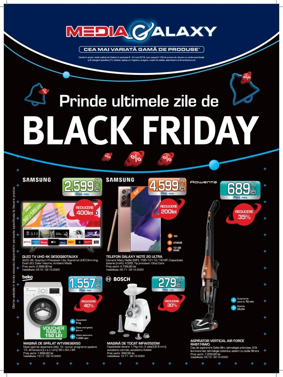 Catalog MEDIA GALAXY Black Friday 2020 ! 26 Noiembrie 2020 - 02 Decembrie 2020
