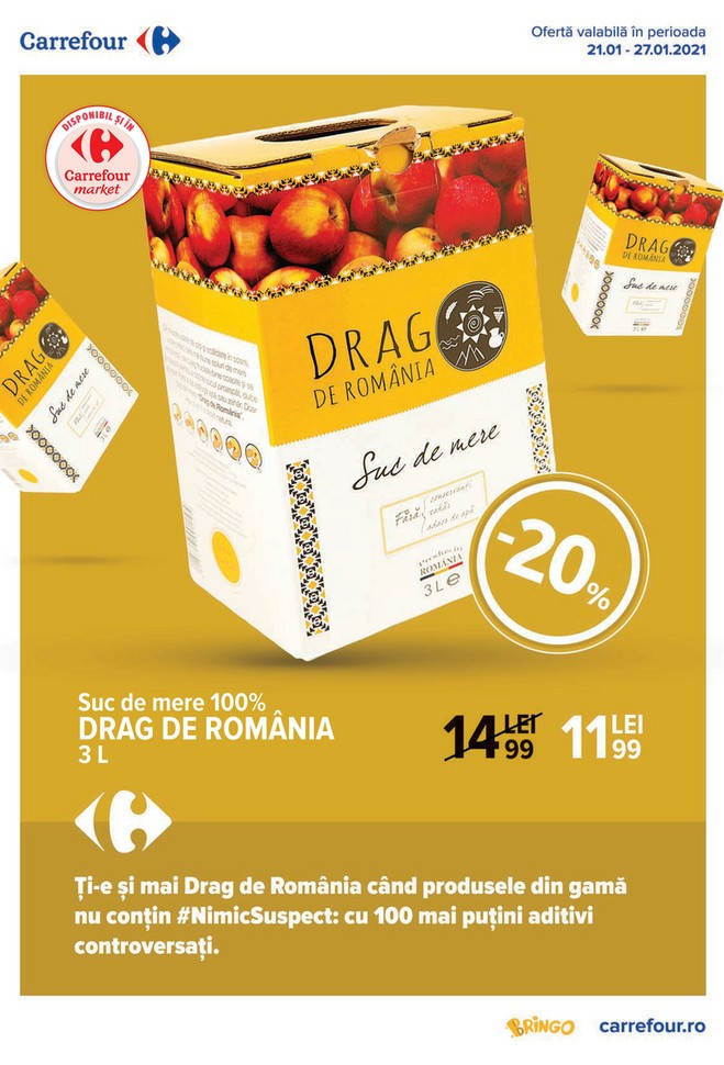Catalog CARREFOUR - Drag de Romania - 20 Ianuarie 2021 - 27 Ianuarie 2021