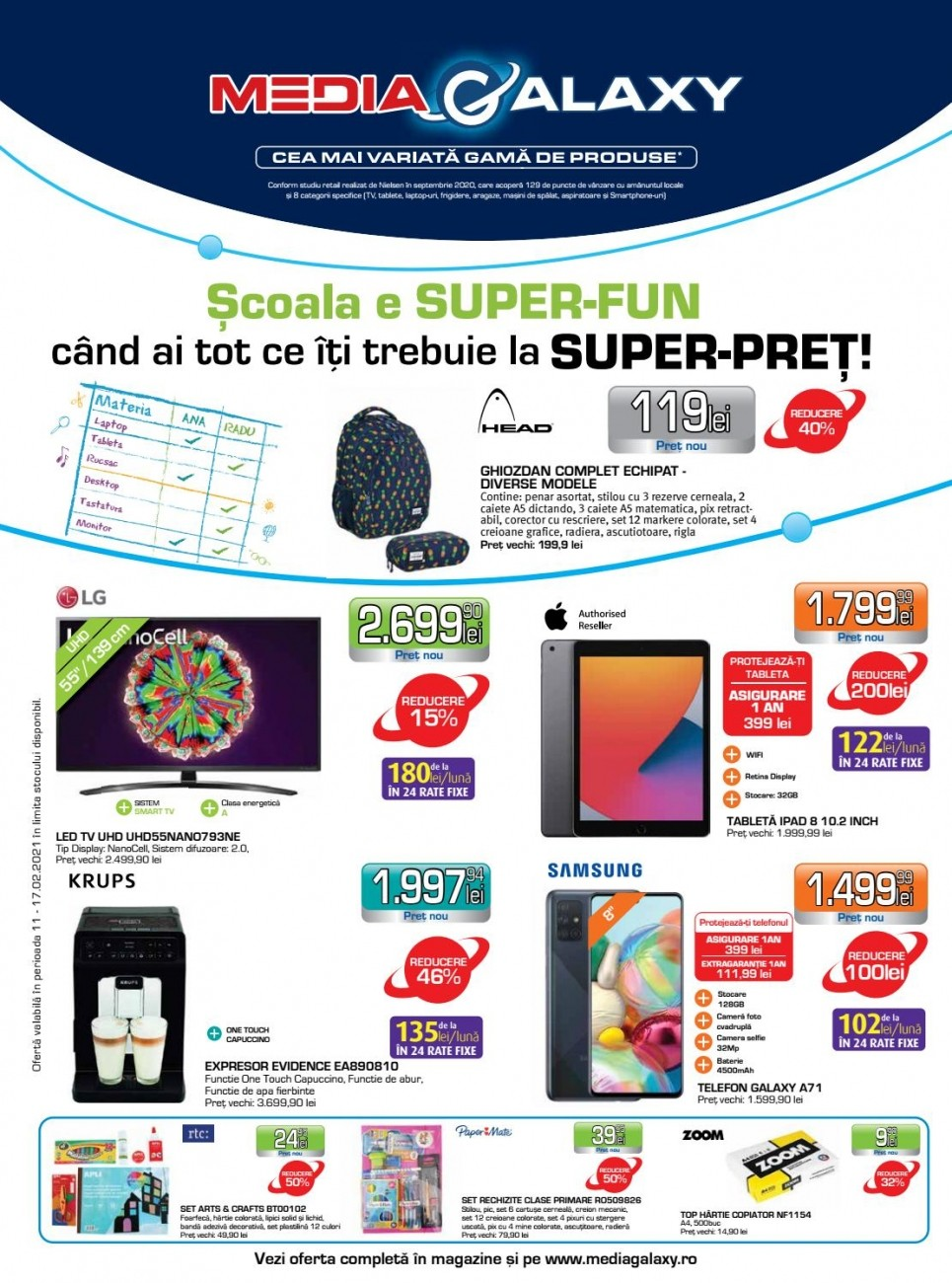 Catalog MEDIA GALAXY 11 Februarie 2021 - 17 Februarie 2021