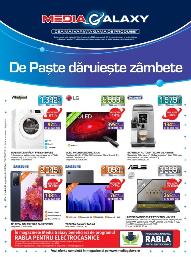 Catalog MEDIA GALAXY 29 Aprilie 2021 - 05 Mai 2021