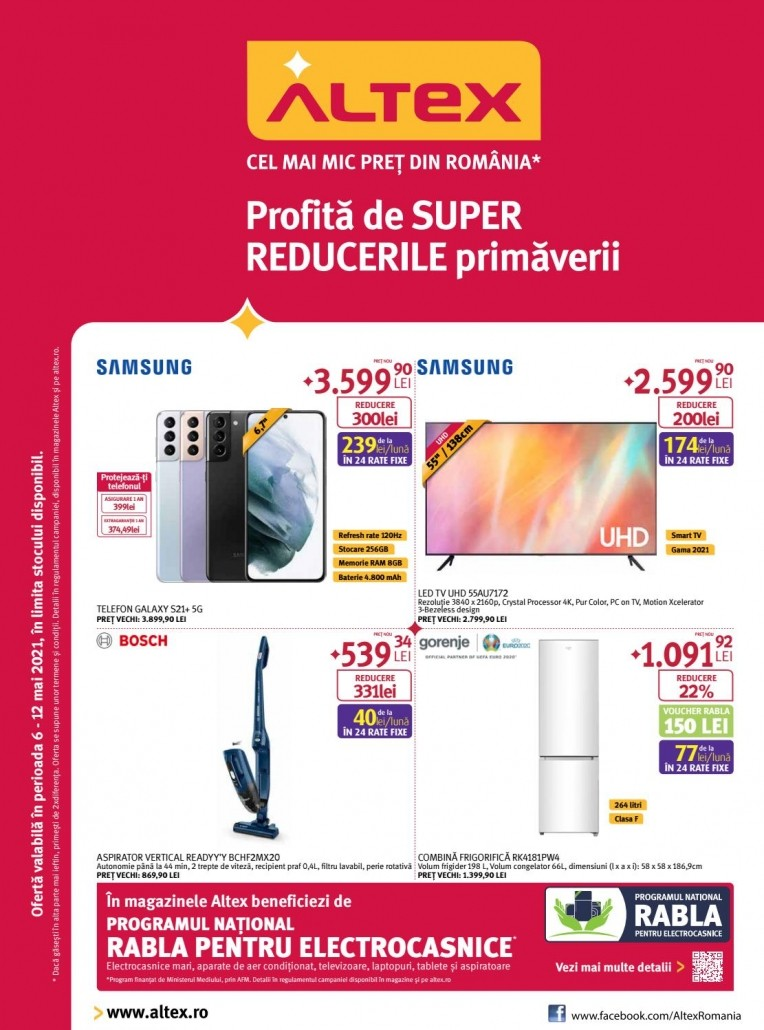 Catalog ALTEX - Profita de super reducerile primaverii! 06 Mai 2021 - 12 Mai 2021