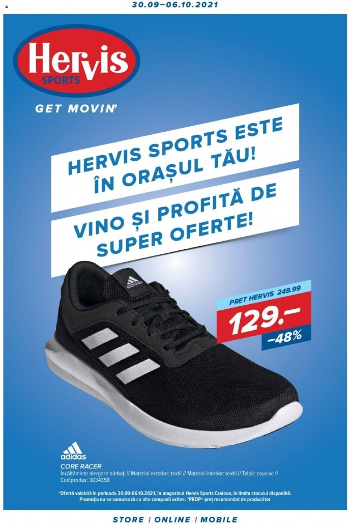 Catalog HERVIS SPORTS - 30 Septembrie 2021 - 06 Octombrie 2021