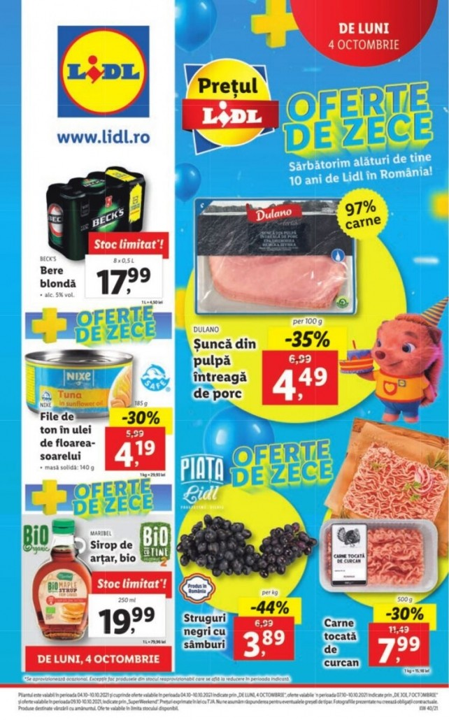 Catalog LIDL 04 Octombrie 2021 - 10 Octombrie 2021