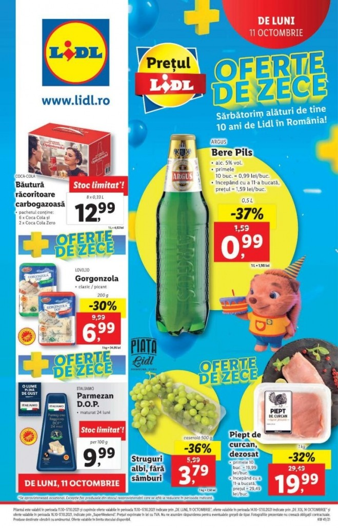 Catalog LIDL 11 Octombrie 2021 - 17 Octombrie 2021