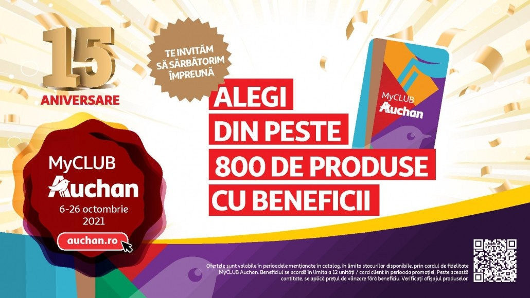 Catalog AUCHAN 06 Octombrie 2021 - 21 Octombrie 2021 - Aniversare 15 ani!