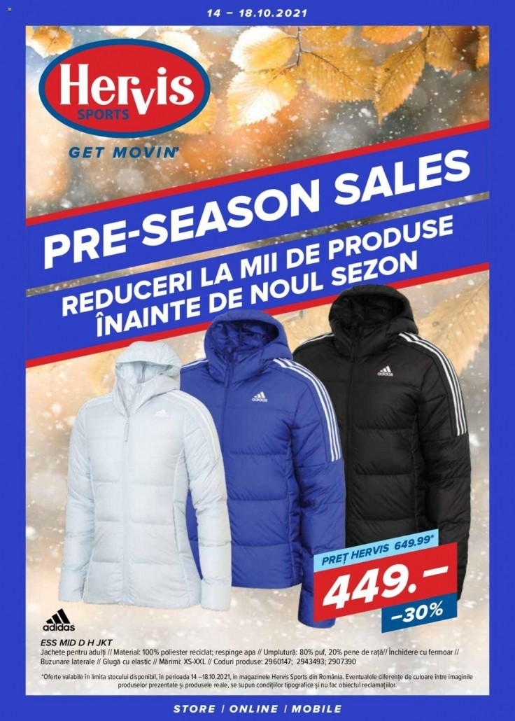 Catalog HERVIS SPORTS - 14 Octombrie 2021 - 18 Octombrie 2021