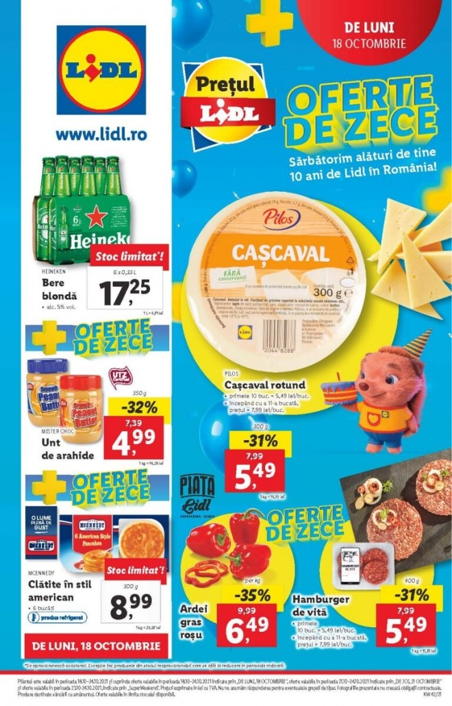 Catalog LIDL 18 Octombrie 2021 - 24 Octombrie 2021