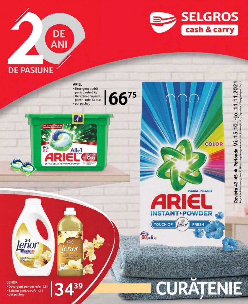 Catalog SELGROS 15 Octombrie - 11 Noiembrie 2021- Curatenie